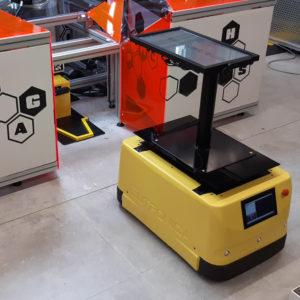 AgiLAB Jobot AGV mobile robot con software di gestione flotta