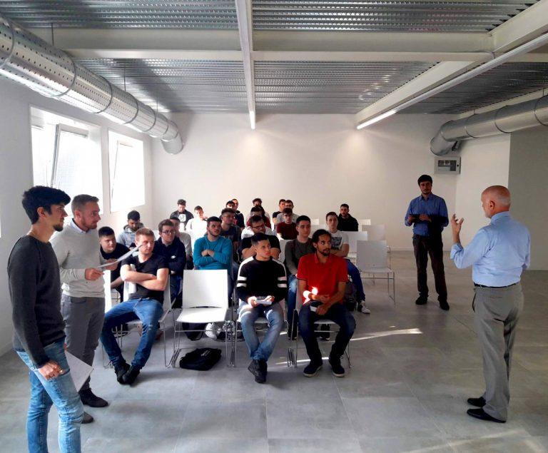 ITS Turin students visiting AgiLAB