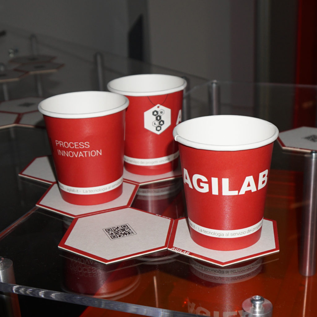 Raw materials AgiLAB cup and coaster