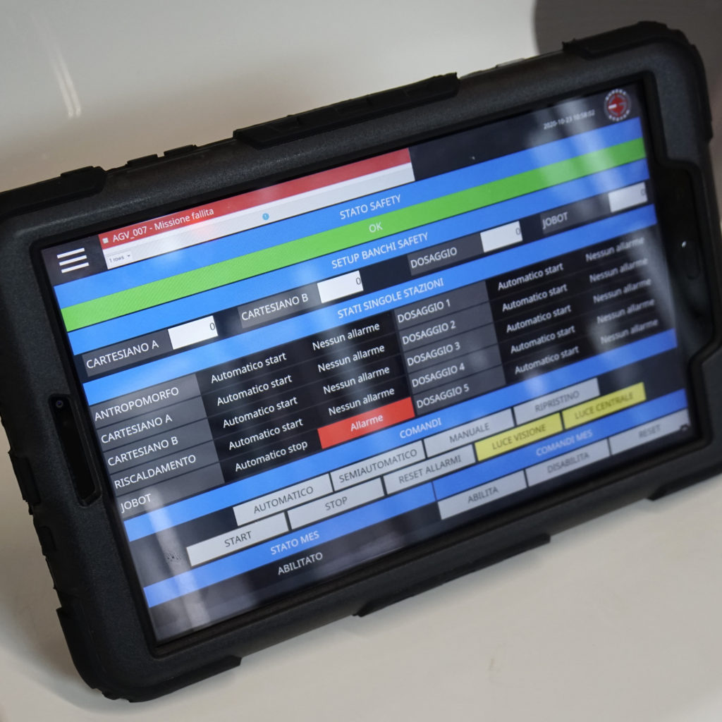 AgiLAB Tablet HMI - failed order